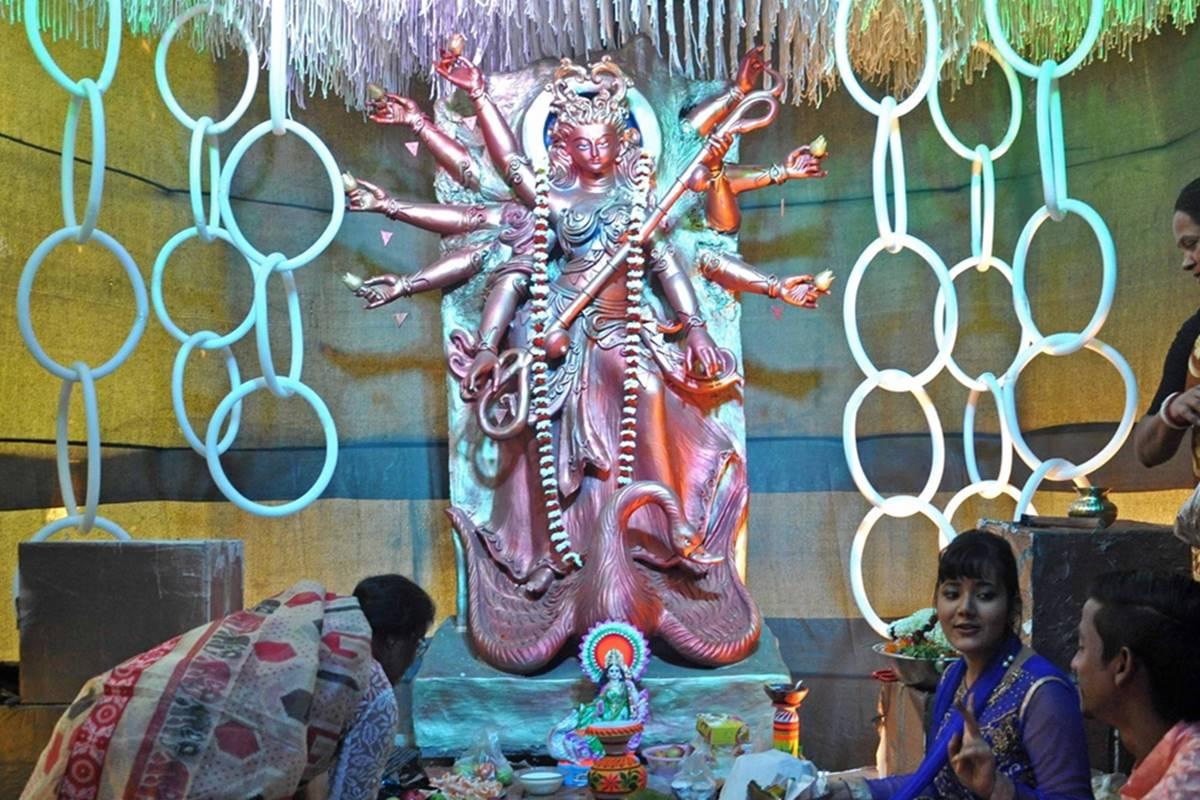 Saraswati, Saraswati Puja, Vasant Panchami, Basant Panchami, Thurathadi, Biàncáitin, Benzaiten