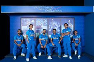 Kohli, Harmanpreet, Dhoni, Rodrigues, Rahane, Prithvi Shaw unveil BCCI's new jersey