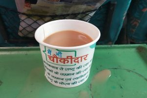 Cups onboard trains with 'Main Bhi Chowkidar' withdrawn, licensee fined: IRCTC