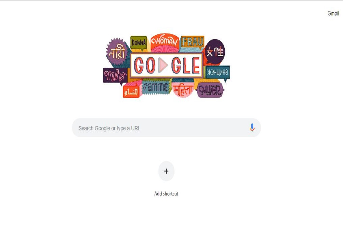 International Women's Day, Google doodle, March 8 2019, United Nations theme, Google