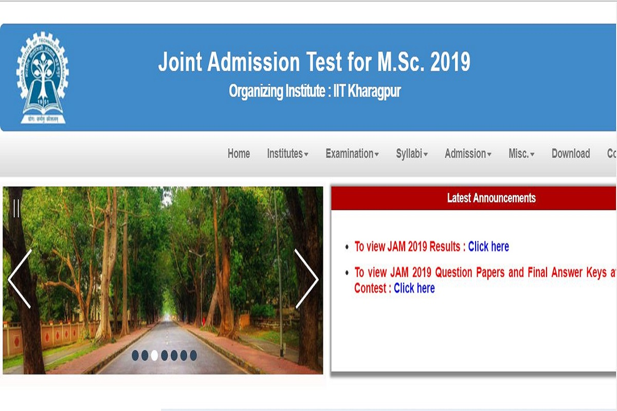 IIT JAM 2019: Results and answer keys released at jam.iitkgp.ac.in, check now