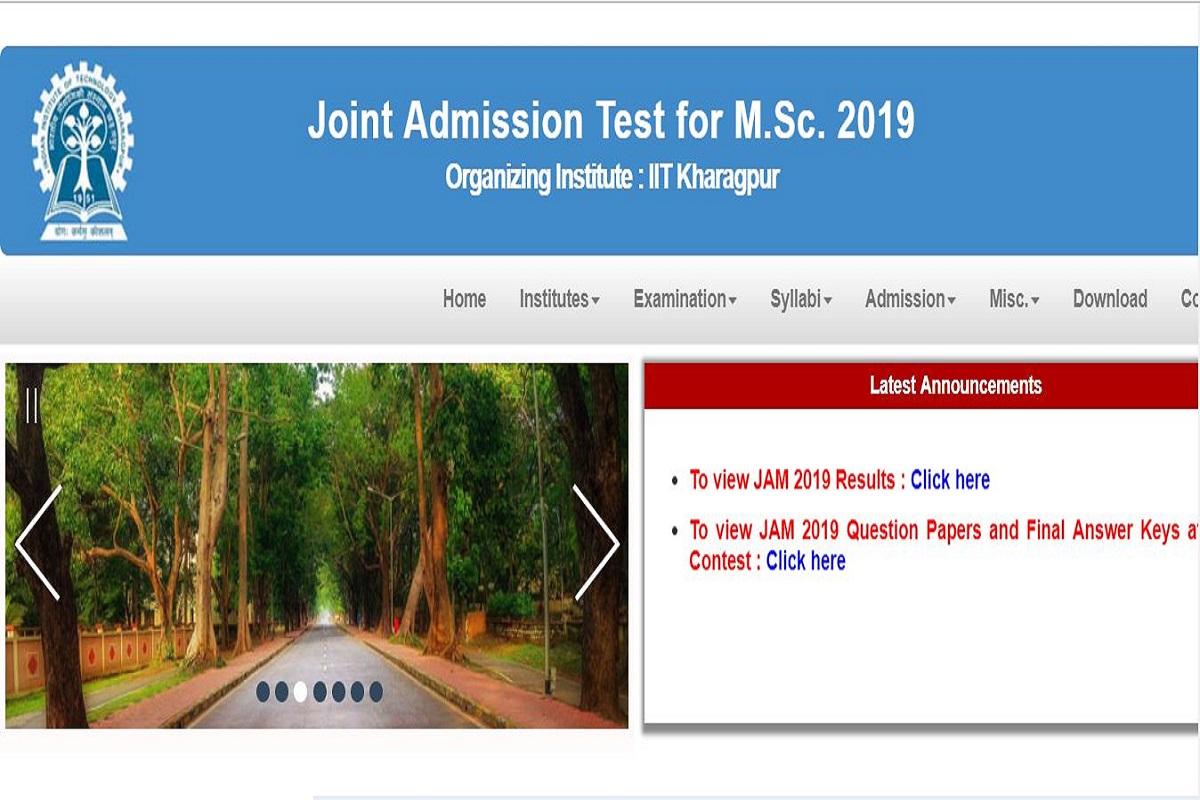 IIT JAM 2019, jam.iitkgp.ac.in, IIT JAM results, IIT JAM results 2019, Indian Institute of Technology Kharagpur