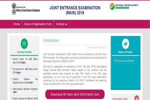 JEE Main 2019 admit cards released at jeemain.nic.in | Download now