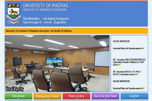 Madras University declares Distance MBA results at ideunom.ac.in | Check direct link here