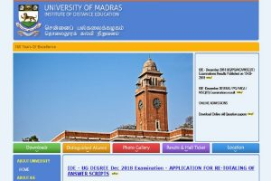 Madras University distance education results 2018 declared at ideunom.ac.in, steps to download here