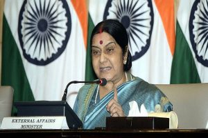 If Imran Khan is a statesman, he should hand over Masood Azhar to India: Sushma Swaraj