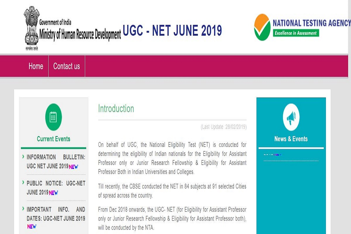 NTA UGC NET 2019, ntanet.nic.in, National Testing Agency, UGC NET 2019 June examination