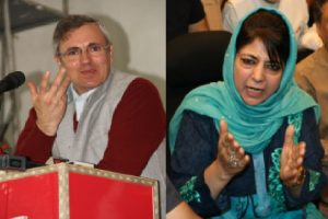 Omar accuses PDP of bringing RSS to Kashmir, Mehbooba says NC brought NIA