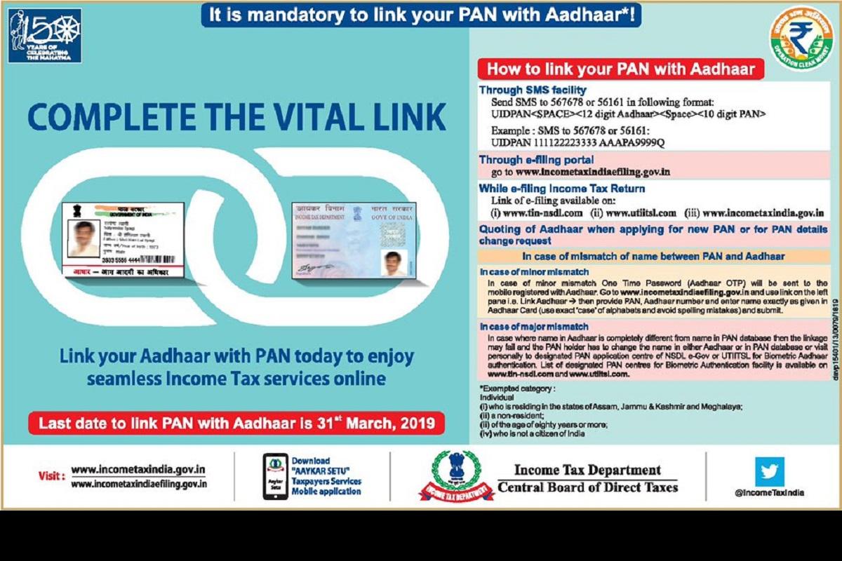 Aadhaar card, Pan Card, Aadhaar Pan Linking, Aadhaar Card linking, link pan card with Aadhaar