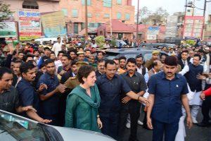Priyanka Gandhi visits ailing Bheem Army Chief Chandrashekhar