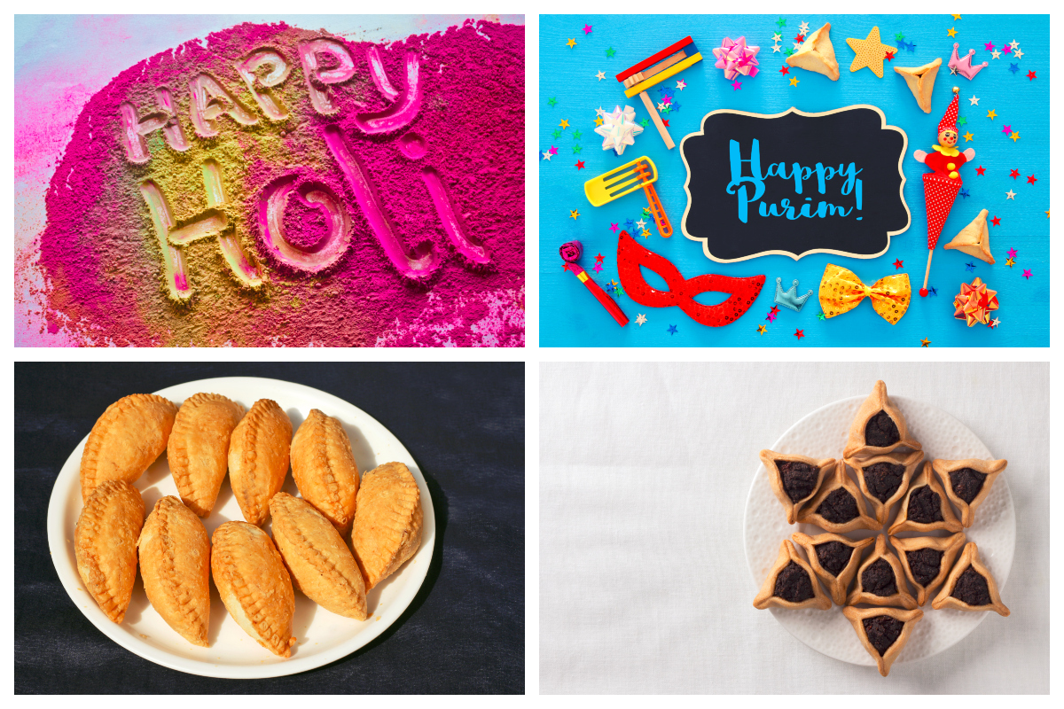 Did you know that Jewish festival Purim and Holi are celebrated on the same day?