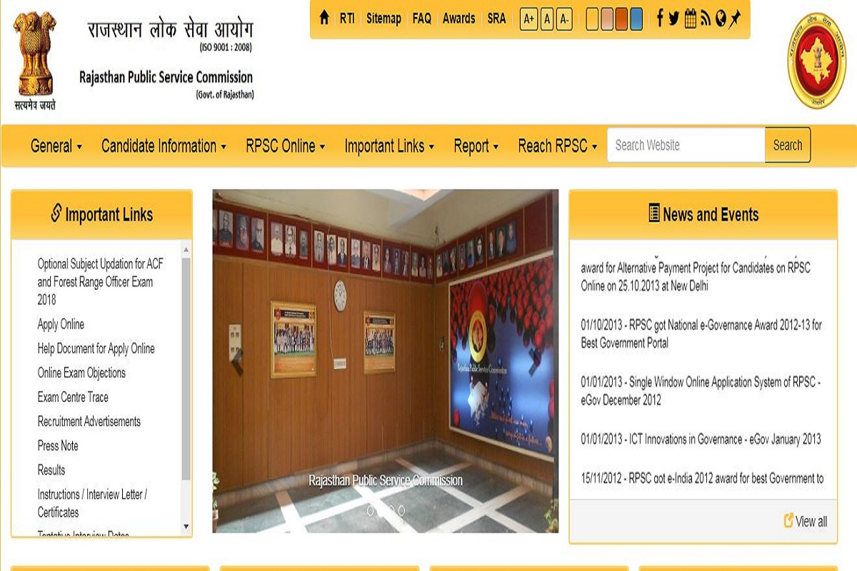 Rpsc Releases Assistant Engineer Exam Answer Keys At Rpsc Rajasthan Gov In Check Now