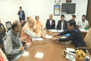After mega unity show, Amit Shah files nomination from Gandhinagar in presence of BJP top brass