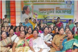 TMC women's 48-hour demo against BJP's demand