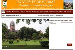 Madras University declares UG, PG, Professional Degree revaluation results at unom.ac.in