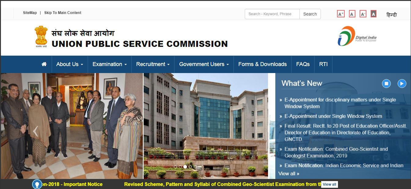 UPSC examinations, Union Public Service Commission, IES/ISS examination 2019, Indian Statistical Service Exam, upsc.gov.in, Indian Economic Services exam,