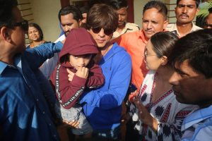 Voting or boating? AbRam was confused, so SRK takes him to polling booth