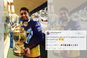Ordered 3D glasses: Ambati Rayudu after World Cup snub over 'three-dimensional' Vijay Shankar