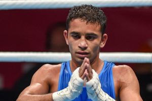 Amit Pangal clinches gold at Asian Boxing Championships