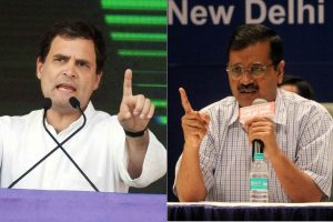 Rahul Gandhi, Arvind Kejriwal exchange blame on Twitter over Congress-AAP alliance