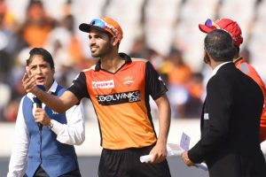 Bhuvneshwar to lead SRH against CSK on Tuesday