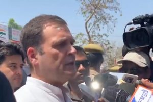 MHA says 'laser' on Rahul Gandhi was from mobile phone of Congress cameraman