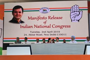Congress manifesto promises 34 lakh jobs, farmer welfare, says will scrap NITI Aayog
