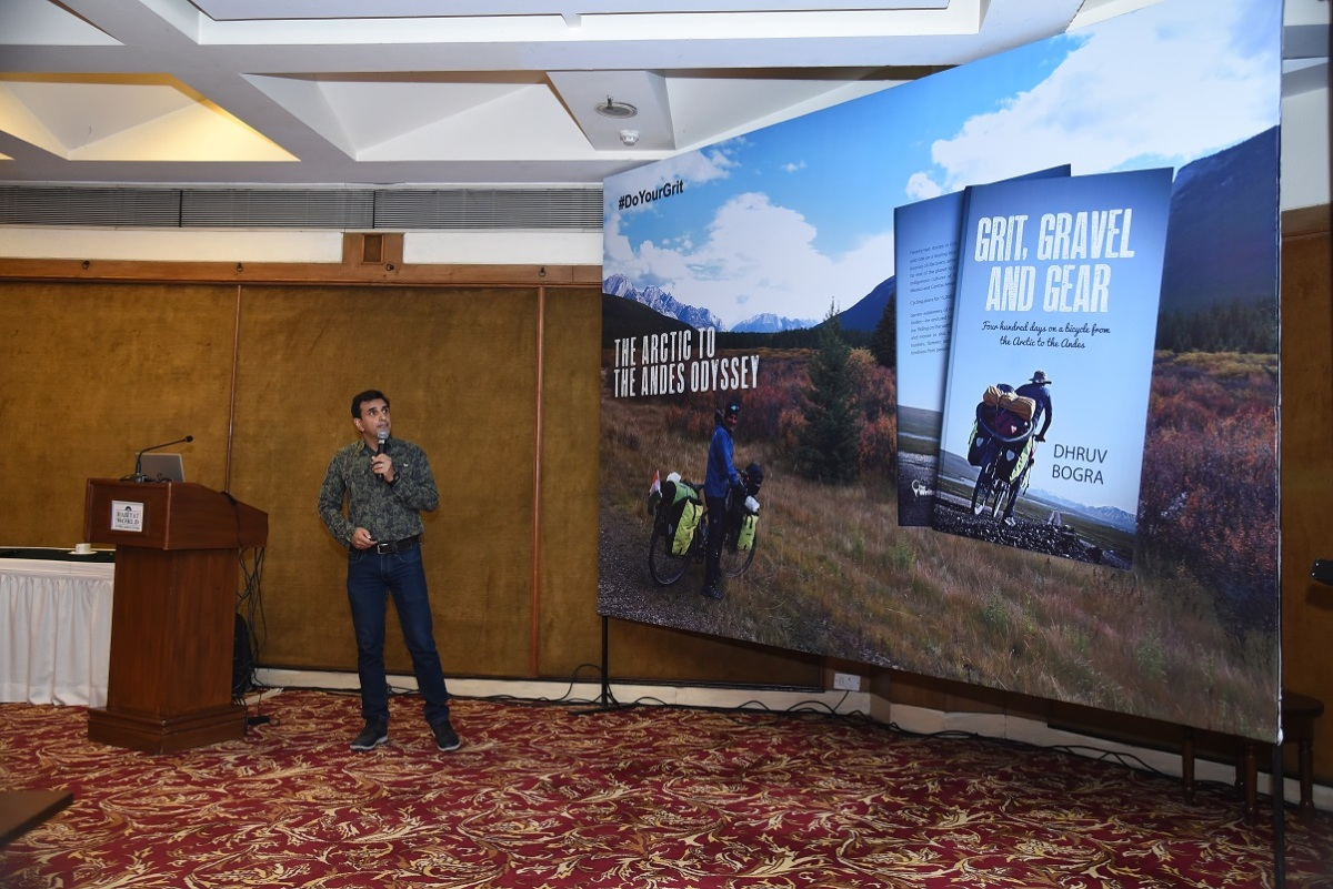 Book launch, Grit Gravel and Gear, Dhruv Bogra, India Habitat Centre, bicycle journey