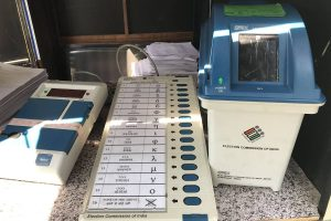 Omar Abdullah tweets report on issue with Congress button, officials replace EVM