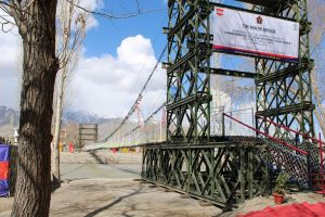 Army constructs Maitri Bridge on Indus river to link villages in Leh