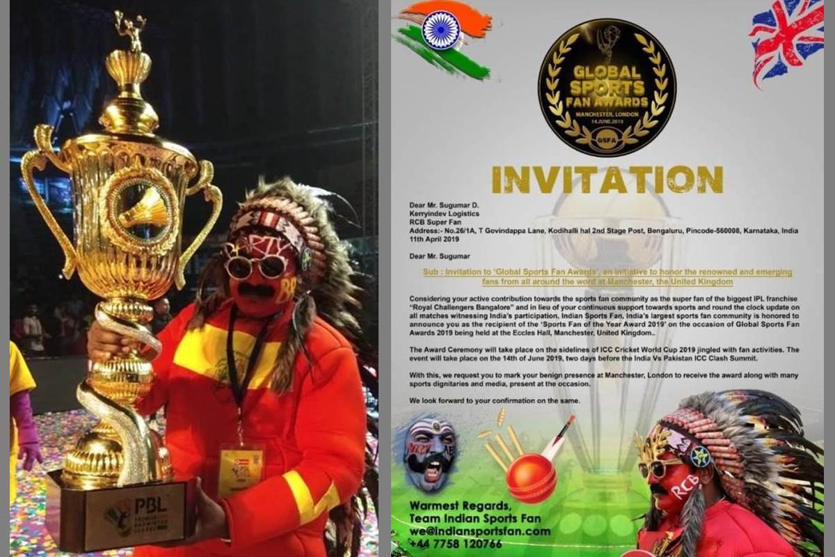 Sugumar D., Virat Kohli's fan