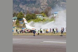 Two dead, 5 injured after plane crashes at Nepal's Lukla airport