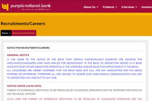 PNB Technical Officer Interview Admit Card, Result 2019 released on www.pnbindia.in