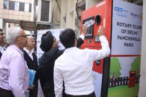 Waste recycling machine installed at Delhi High Court