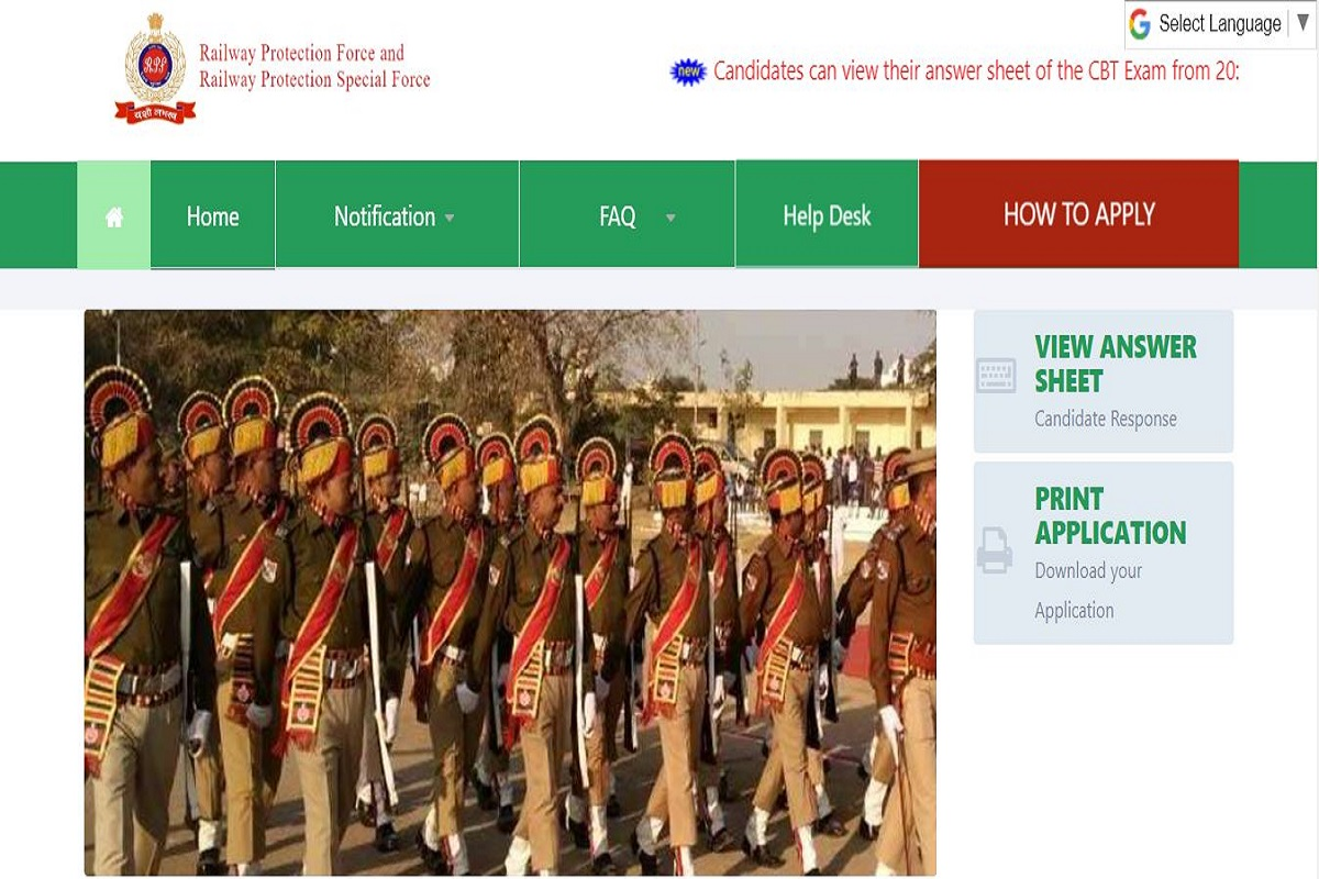 RPF Constable answer keys, Railway Protection Force, cpanc.rpfonlinereg.org, RPF Constable Answer Key 2019