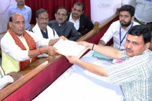 Rajnath Singh files nomination from 'high-profile' Lucknow seat