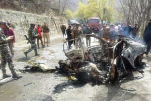 Jammu-Srinagar Highway car blast: Police arrest suspect, questioning in process