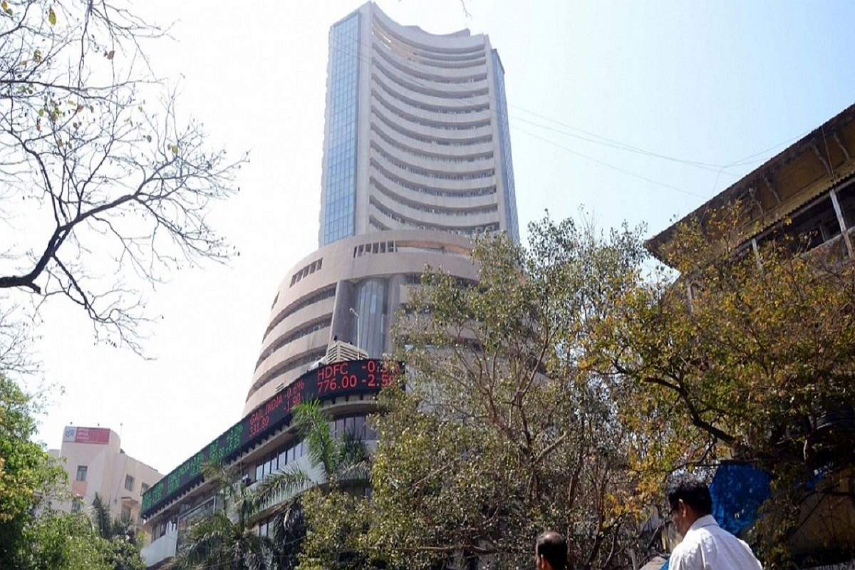 Indian equities traded in red during the morning trade session on Monday after opening slightly higher. Index heavyweight Reliance Industries was down 1.56 per cent on the BSE.