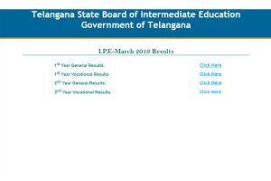 TS Inter Manabadi Result 2019 available at bie.telangana.gov.in, tsbie.cgg.gov.in | Check general, vocational results, passing percentage