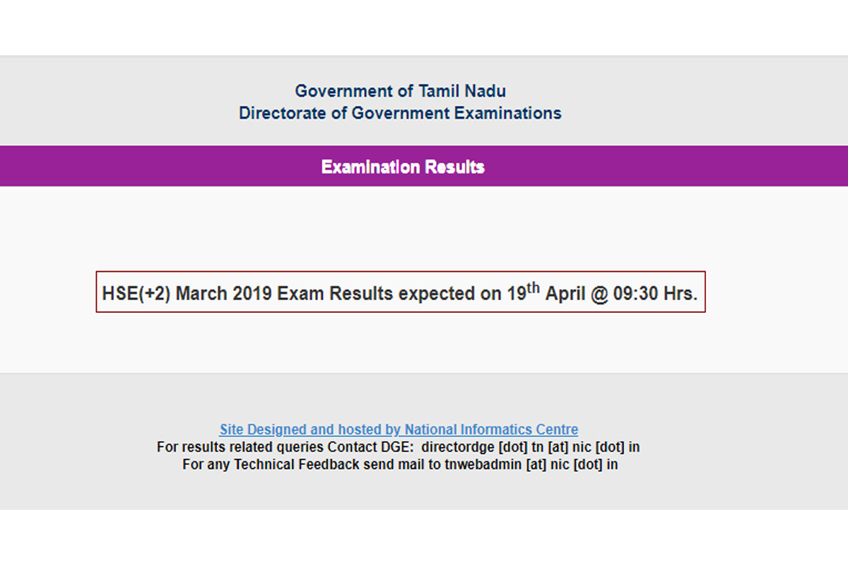 Tamil Nadu Board Results 2019, TN HSE results 2019, TN Class 12 results 2019, tnresults.nic.in, dge.tn.nic.in, dge.tn.gov.in, TN Arts results 2019, TN Commerce results 2019, TN Science streams results 2019, results 2019 for class 12