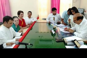 Rahul, with family in tow, files nomination from Amethi