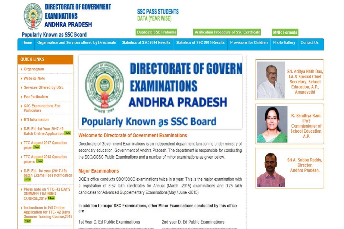 AP SSC results 2019, Board of School Education, Andhra Pradesh SSC results, bseap.org