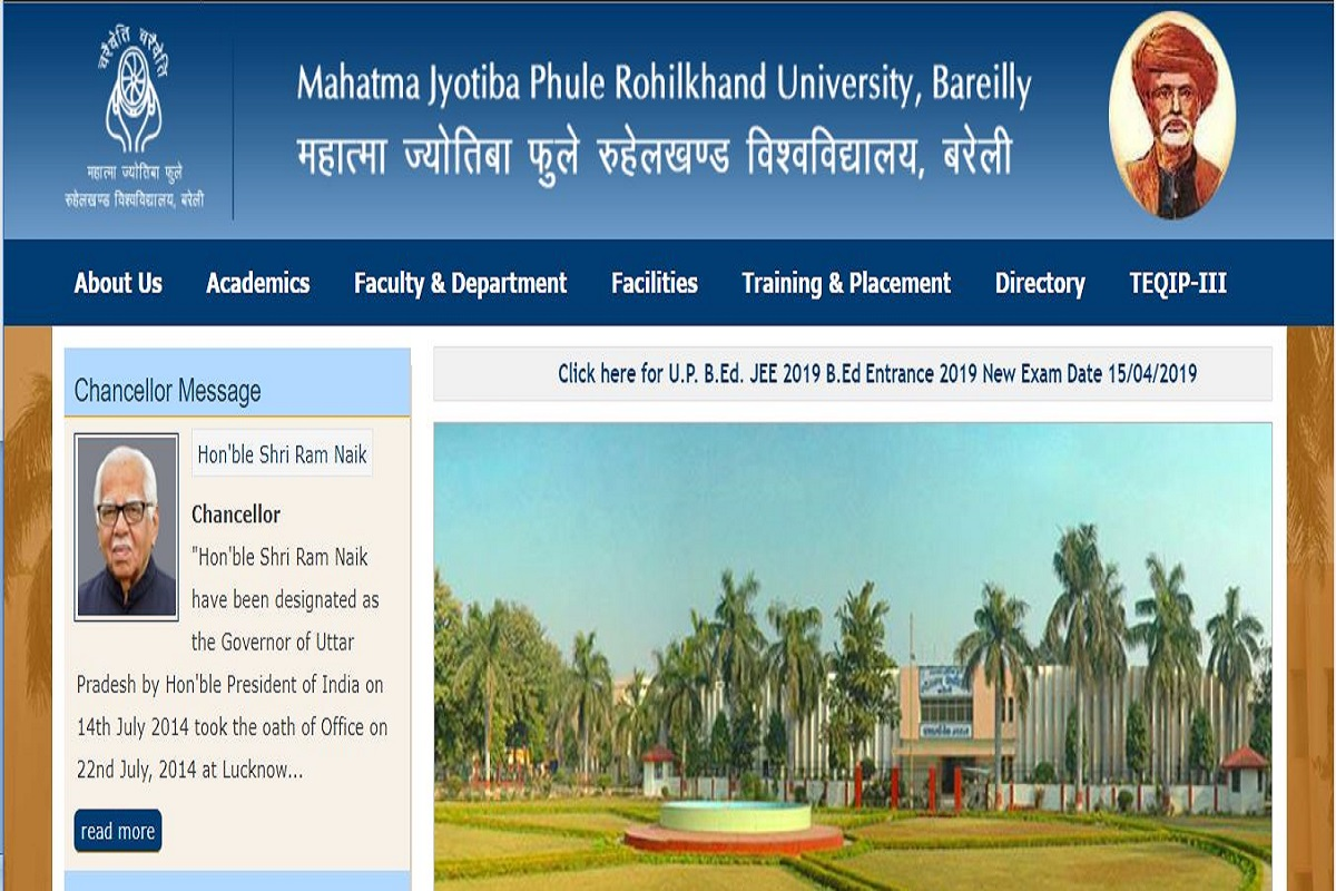 mjp rohilkhand university admit card 2014
