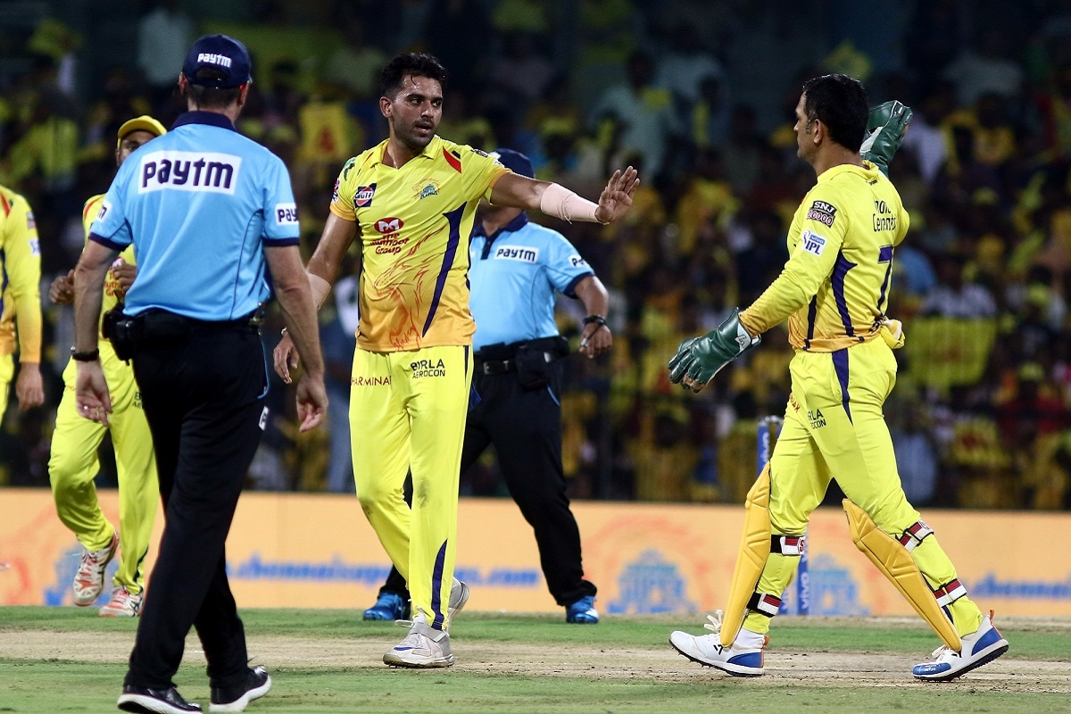 Deepak Chahar, Mahendra Singh Dhoni, Indian Premier League, Kings XI Punjab, Kolkata Knight Riders, MS Dhoni, IPL, IPL 2019