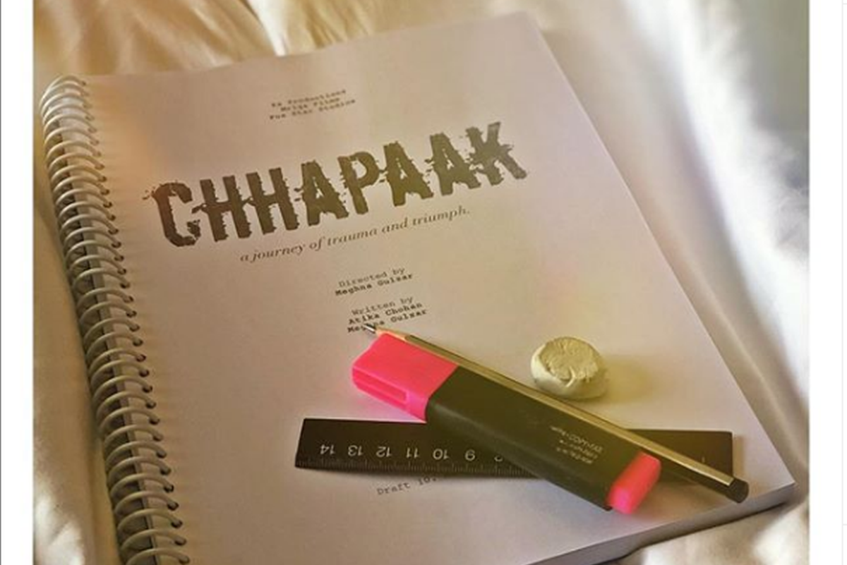 Deepika Padukone busy with her homework for Chhapaak