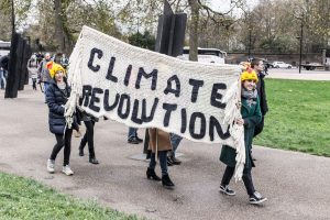 Thousands of people block London roads in climate protests
