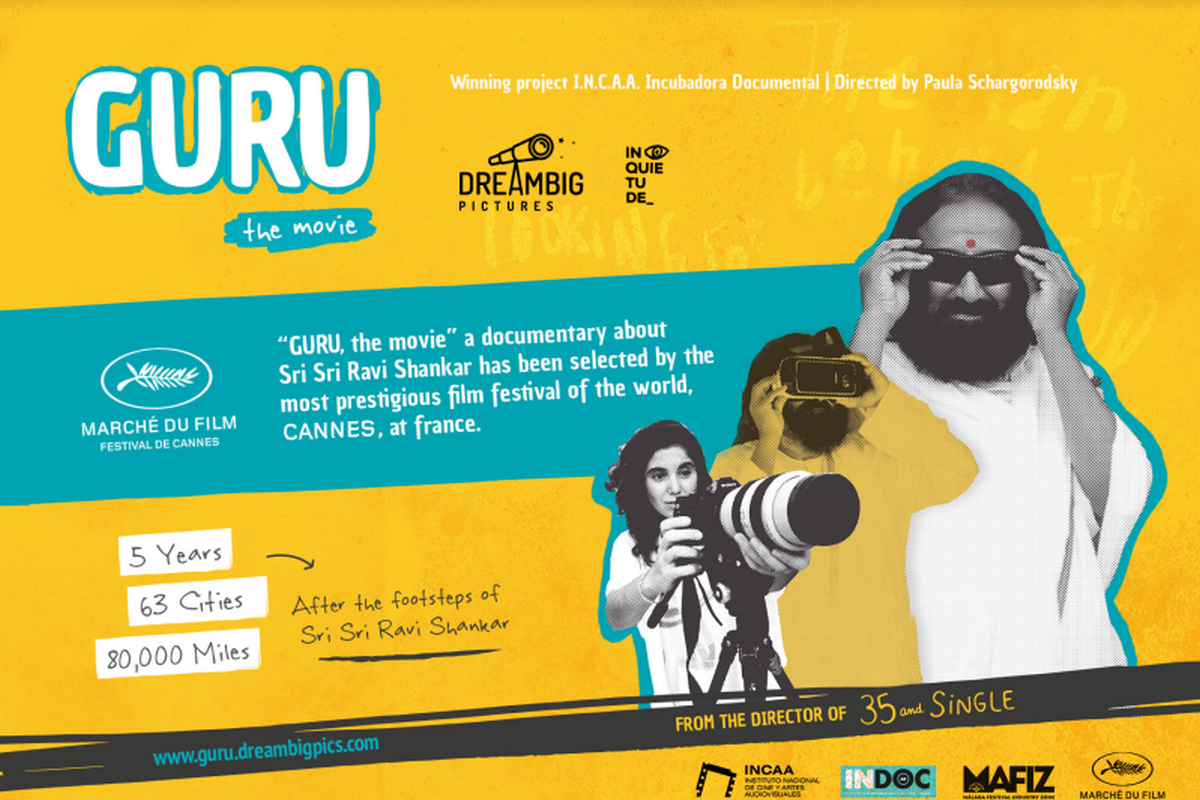 Sri Sri Ravi Shankar film Guru, by Argentinian filmmaker, to be screened at Cannes