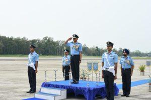 Air Marshal RD Mathur visits 11 Wing, AFS Tezpur
