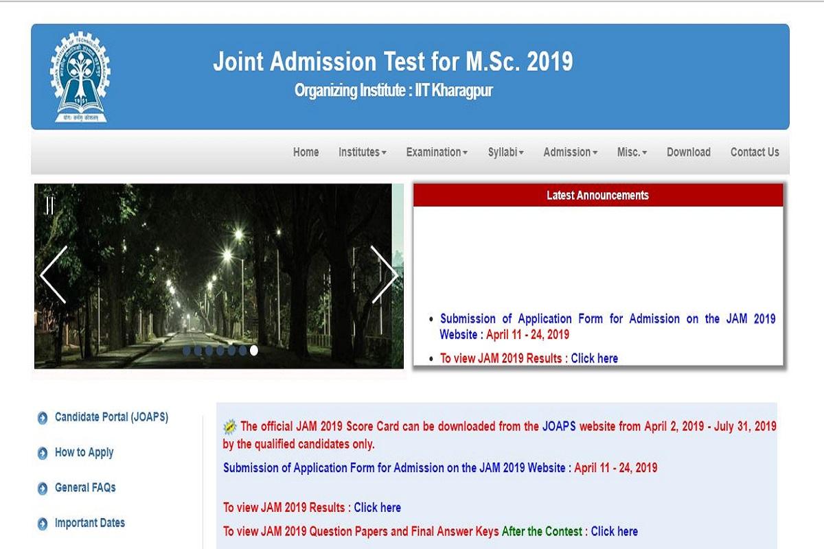 JAM 2019 scorecards, jam.iitkgp.ac.in, IIT Kharagpur, JAM scorecards, IIT JAM examination