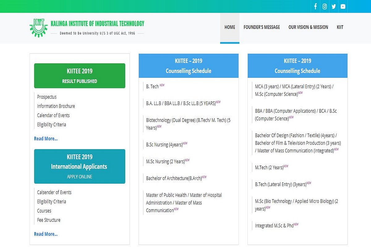 Kiitee Results 2019 Declared At Kiitee Kiit Ac In Check Direct Link Here